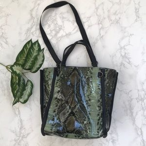 French Connection Snake print tote shoulder bag